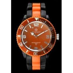 ZEGAREK DAMSKI PERFECT - ICE 4 - TRUE COLOR - black/orange (zp666g)