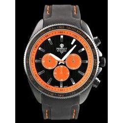 ZEGAREK MĘSKI PERFECT Y2180 - black/orange   (zp107b)