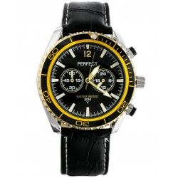 ZEGAREK MĘSKI PERFECT - OWEGA black/gold (zp165f)